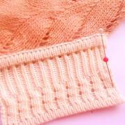 機織雙層邊螺紋花樣門襟的織法說明(不限機器品牌)