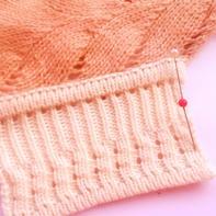 机织双层边螺纹花样门襟的织法说明(不限机器品牌)