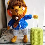 带着行李箱的小狮子 可换装的钩针狮子(含拉杆箱制作方法)