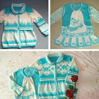 青花瓷 古韵新风中华情儿童棒针提花开衫与套衫
