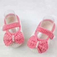 船鞋鞋面钩法(3-2)公主范钩针宝宝鞋婴幼儿编织视频教程