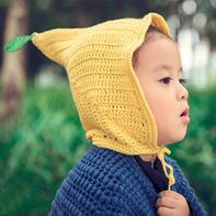 柠檬帽 儿童钩针尖尖角精灵帽编织视频教程