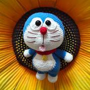 童年的记忆 可爱呆萌的钩针机器猫