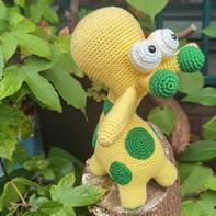 仰望天空的长颈鹿 娃娃家2.0钩针鹿玩偶编织图解