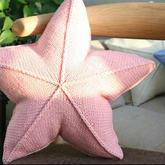 星星抱枕 从中心开始织的棒针五角星抱枕新手零基础视频教程