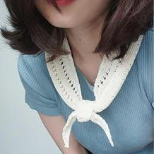 秀 女士棒针镂空小三角围巾
