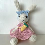 娃娃家2.0功能线双股编织可爱钩针小兔子