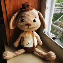 MR.Rabbit  娃娃家2.0双股编织钩针兔子先生