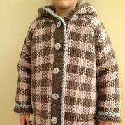 创意针织 仿格子毛呢外套