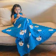 小牛毯子 简单好钩祖母方格拼花牛牛图案钩针毯子编织视频教程
