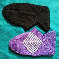 经典舒适棒针地板袜毛线袜子编织视频教程