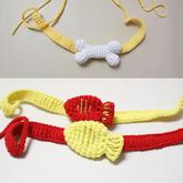 骨头(2-1)狗狗宠物围脖钩针编织视频教程