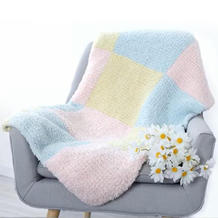 方格绒绒毯 亲肤柔软绒线棒针毯子编织视频教程