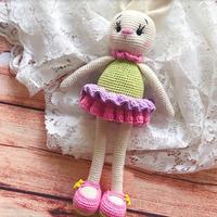 小兔叽 萌可爱钩针小兔子玩偶图解