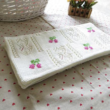 童趣 可爱的樱桃绣花图案棒针童毯