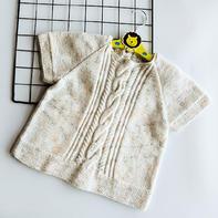 米兰(2-2)儿童棒针麻花插肩短袖上衣编织视频教程