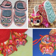 民间传统老虎布鞋款式及图样