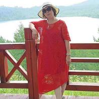 红莓花儿开 女士钩针改版三角网格拼花连衣裙