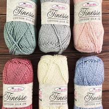 英国Kingcole Finesse真丝棉 中粗手工编织棉线宝宝毛线团打毛衣织围巾