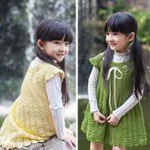 從領口向下編織兒童鉤針公主連衣裙編織視頻