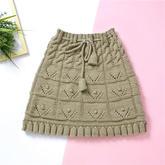 风铃裙  简单上下针编织的可爱棒针小短裙视频教程