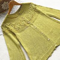 黄水仙 从上往下织云清女士棒针圆肩中袖小开衫