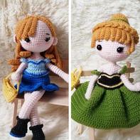 娃娃家2.0钩针娃娃图解(安娜公主、金发女郎)