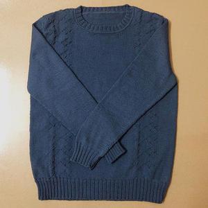 乘风破浪 男士棒针羊毛圆领毛衣