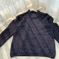 夹花线男士棒针圆领毛衣编织过程说明