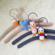 创意毛线编织玩偶装饰无痕衣架