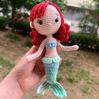 美人鱼(2-2)可爱钩针娃娃玩偶编织视频教程