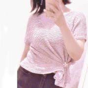 波浪 粉紫亚麻女士棒针镂空花短袖套衫