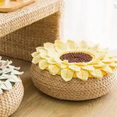 向日葵款(2-1)创意毛线钩针花形坐垫编织视频教程
