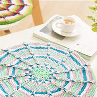 万花筒款(2-2)创意毛线钩针花形坐垫编织视频教程