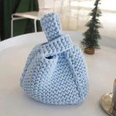 織法超簡單的棒針日系手挽袋編織視頻教程