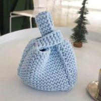 织法超简单的棒针日系手挽袋编织视频教程