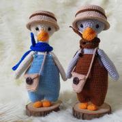 大白鹅与大灰鹅 娃娃家2.0钩针玩偶编织图解