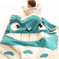创意毛线龙猫造型毯子钩针编织视频教程