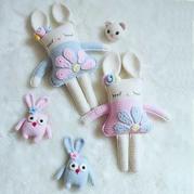 公益活动编织萌可爱钩针小兔子玩偶