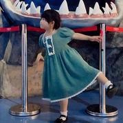 复古风短袖儿童钩针公主裙(附图解与过程图)
