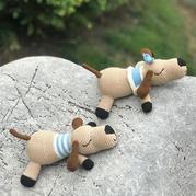 可抱可枕的同款不同线材钩针趴趴狗玩偶