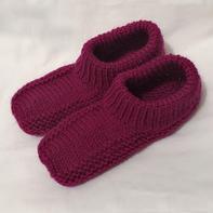 织法非常简单的棒针简易地板鞋