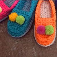 豆豆家居鞋(3-3)布条线钩针拖鞋家居鞋编织视频教程