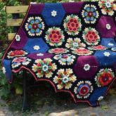 弗里达的花朵毯子 钩针拼花毯编织教程合集