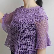 仙仙的夏日繁花短款女士鉤針套衫