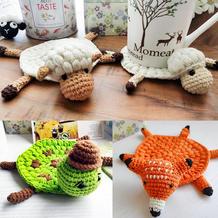 绵羊杯垫下集(5-2)动物主题钩针杯垫隔热垫编织视频教程