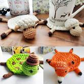狐狸杯垫(5-3)动物主题钩针杯垫隔热垫编织视频教程