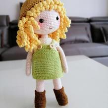 糖果女孩 头部可活动的钩针玩偶娃娃