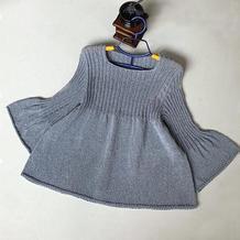 喵夫人小暑女士棒针娃娃衫式毛衣