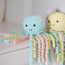 小章鱼(2-2)钩针海洋动物玩偶宝宝安抚玩具编织视频教程